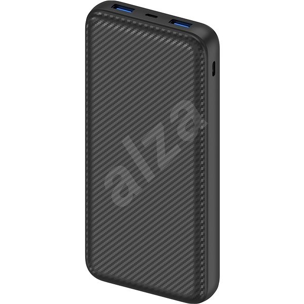 AlzaPower Carbon 20000 mAh Fast Charge + PD3.0 Black - Powerbank
