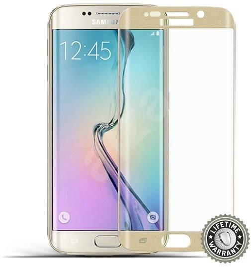 ScreenShield Tempered Glass Samsung Galaxy S6 Edge (G925) Gold - Ochranné sklo