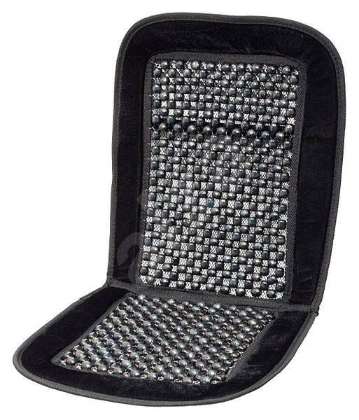 COMPASS Poťah sedadla guľôčkový s lemom čierny 93x40 cm - Autopoťahy