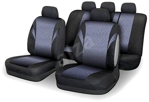 COMPASS Poťahy sedadel sada 9ks POLY farebné AIRBAG - Autopoťahy