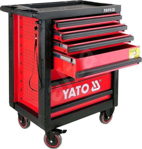 5a53ccf1a875e YATO, pre domácich majstrov, pojazdná, 6 zásuviek, červená - Skriňa ...