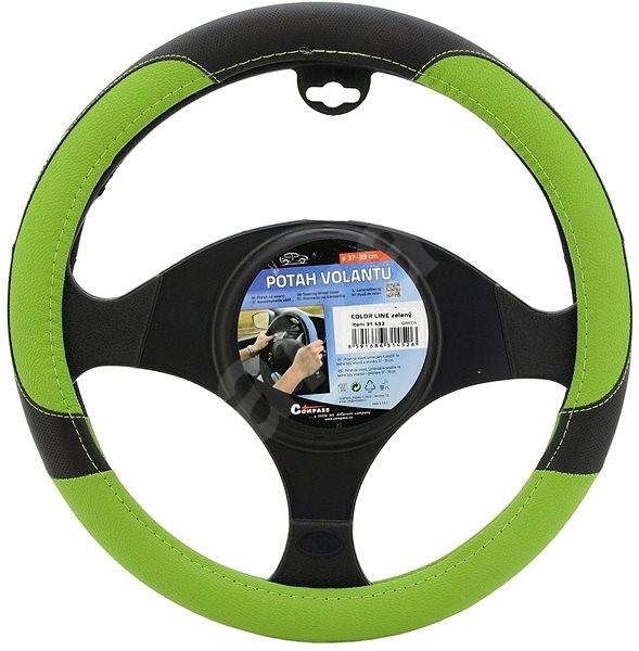 COMPASS Poťah volantu COLOR LINE zelený - Poťah na volant