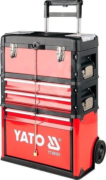 d08e9e8d5a401 YATO Vozík na náradie, 3 sekcie, 2 zásuvky - Box na náradie