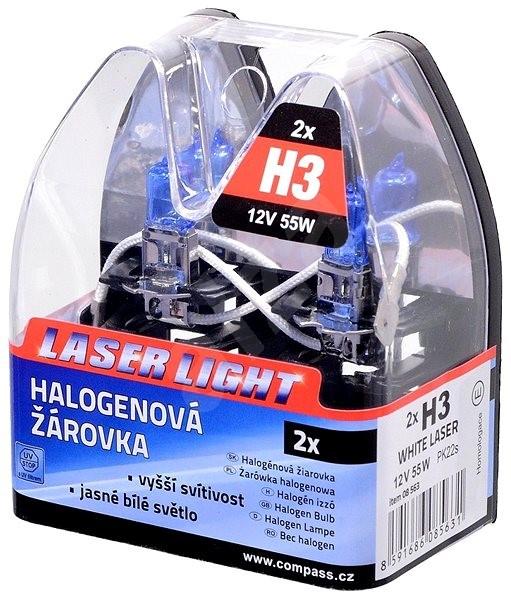 Žiarovka 12V H3 55W PK22s WHITE LASER blister 2ks - Autožiarovka