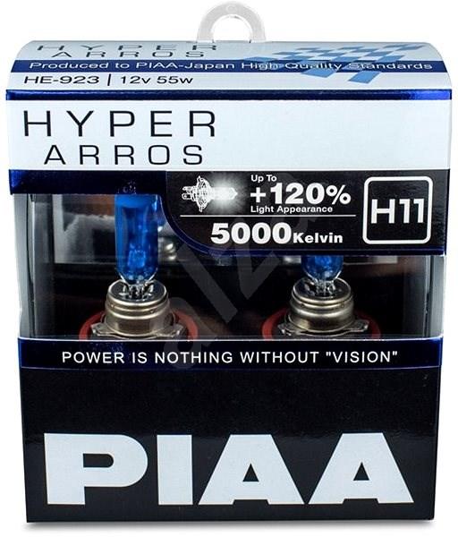 PIAA Hyper Arros 5000K H11 + 120%, jasne biele svetlo s teplotou 5000K, 2 ks - Autožiarovka
