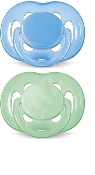 Philips AVENT cumlík SENSITIVE 6 – 18 mesiacov, modrý a zelený, 2 ks - Cumlík