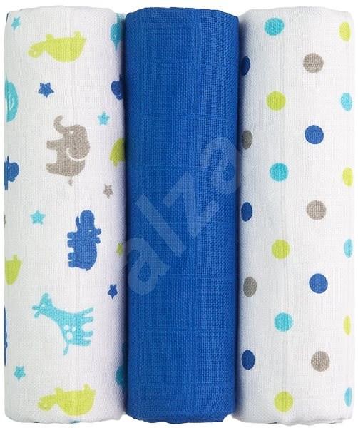 T-tomi Plienky látkové 3ks - modré žirafy + DARČEK - Detské plienky