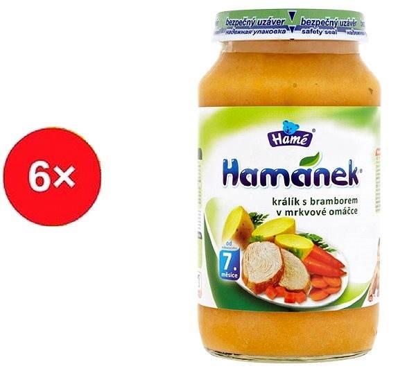 Hamánek Králík s bramborem v mrkvové omáčce 6×  230 g - Detský príkrm