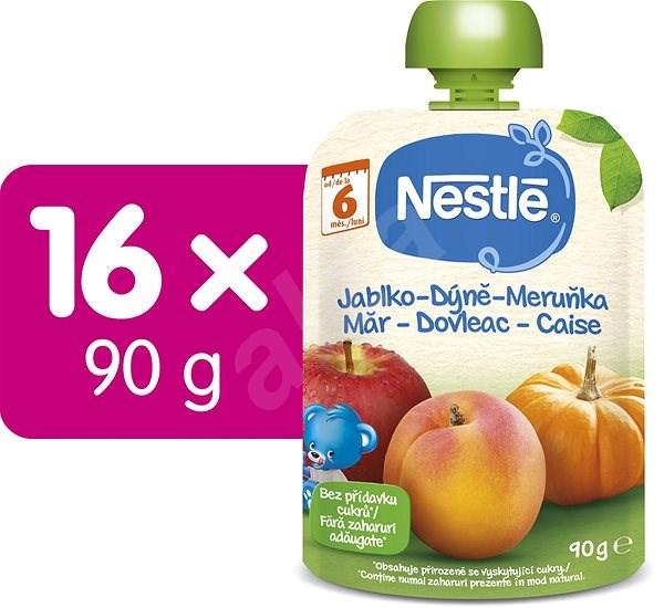 NESTLÉ Jablko Tekvica Marhuľa 16× 90 g - Príkrm