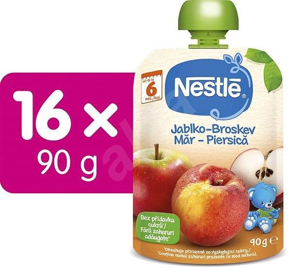 NESTLÉ Jablko Broskyňa 16× 90 g - Príkrm