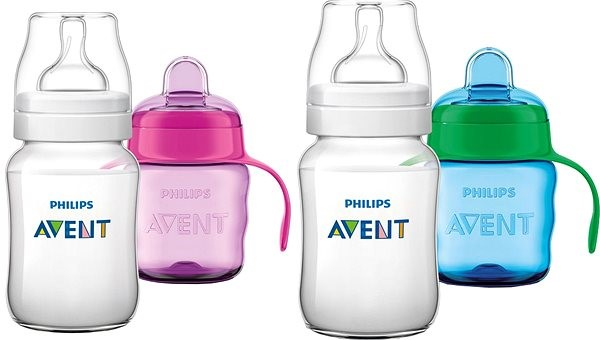 Philips AVENT fľaša Classic+ 260 ml + Hrnček Classic 200 ml - Sada  dojčenských fliaš 8c608c4ce47