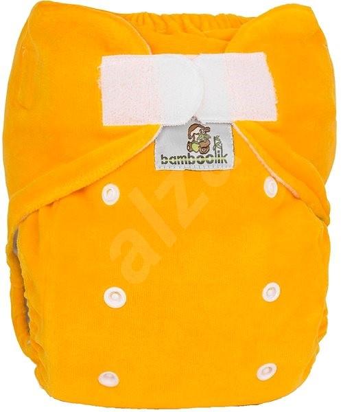 Bamboolik Nočná nohavičková plienka – žltá - Plienkové nohavičky