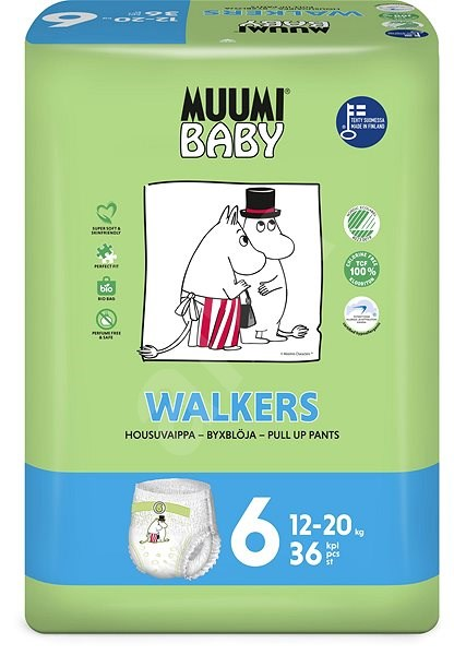 MUUMI BABY Walkers Junior veľ. 6 (36 ks) - Eko plienky