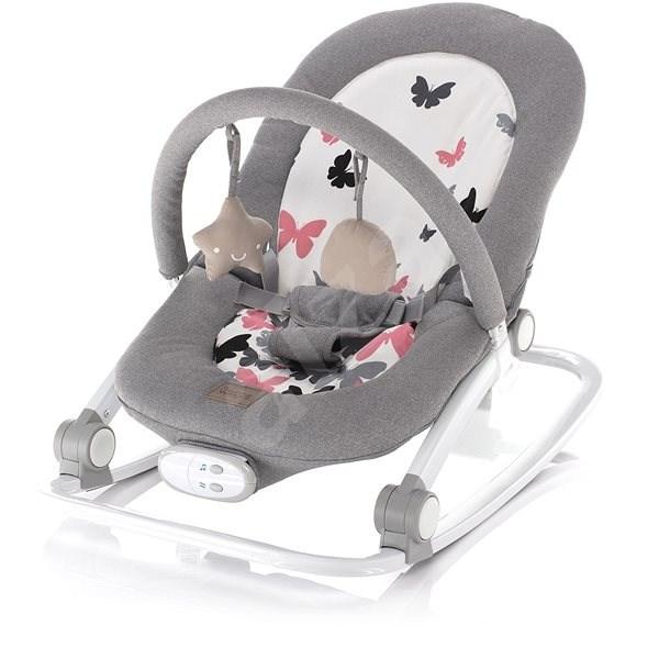 Zopa Relax Grey butterflies - Detské ležadlo
