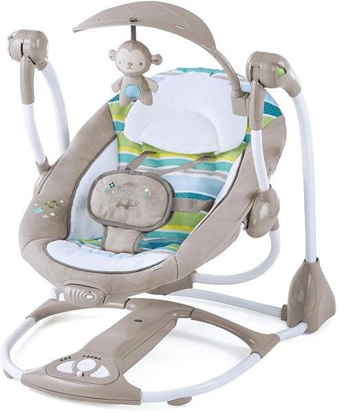 Ingenuity Hojdačka vibrujíca s melódiou Moreland 2 v 1 do 9 kg - Detské ležadlo