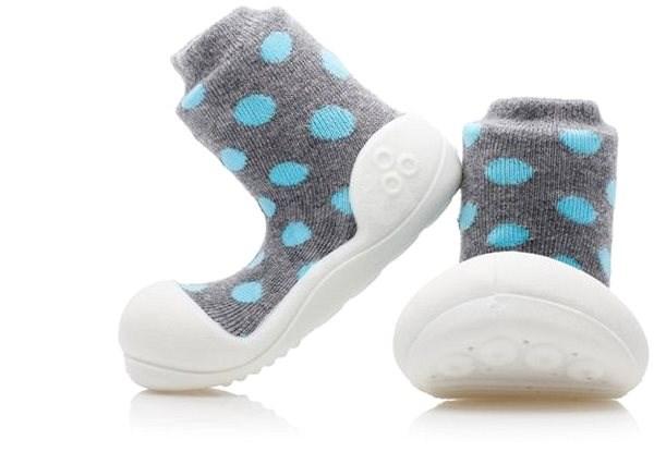 ATTIPAS Polka Dot Gray veľ. S - Detské topánočky