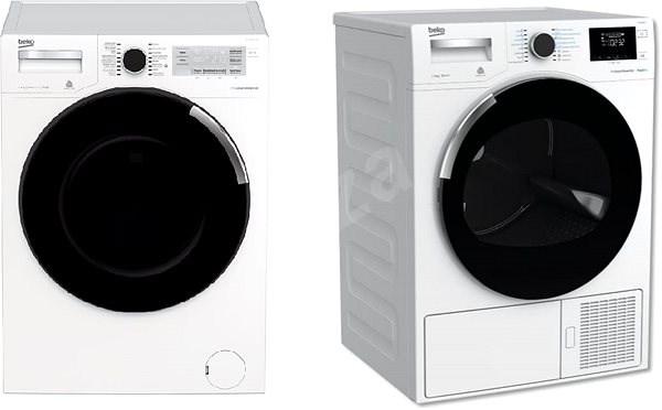BEKO PWTV8644CSX0 + BEKO DH8644CSDRX - Set práčka a sušička