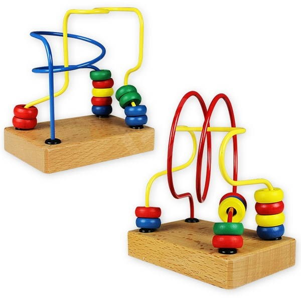 Labyrint 2 kusy - drevené - Didaktická hračka