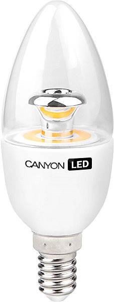 Canyon LED COB žiarovka, E14, sviečka, priehľadná, 6W - LED žiarovka