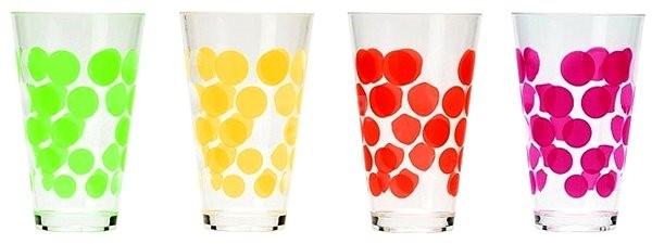 ZAK Súprava pohárov DOT DOT 300 ml 4 ks - Sada