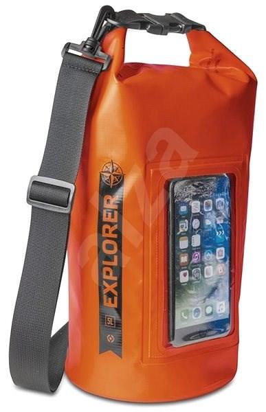 """CELLY Explorer 5 L s vreckom na telefón do 6.2"""" oranžové - Vak"""
