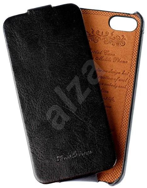 Fashion Vintage Flip pre Apple iPhone 5 5S  SE čierne - Puzdro na mobil 786597b8e98