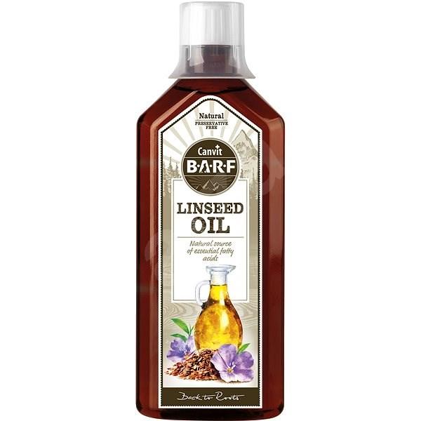 Canvit BARF Linseed Oil 0,5 l - Doplnok stravy pre psov
