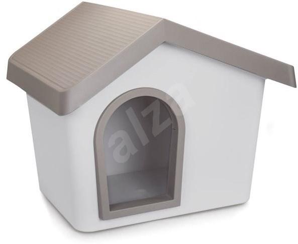 IMAC Búda pre psa plastová – sivá –  D 72,2 × Š 61,8 × V 62,3 cm - Búda pre psa