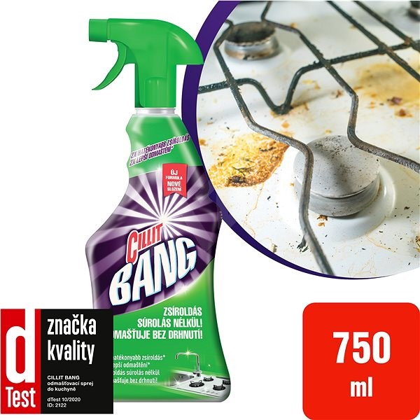 Cillit BANG Odmasťovacie sprej do kuchyne 750 ml - Čistiaci prostriedok