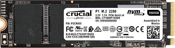Crucial P1 1 TB M.2 2280 SSD - SSD disk