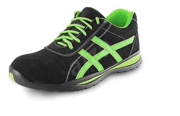 CXS Obuv poltopánka Island GAVI O1, čierno-zelená, veľ. 48 - Pracovná obuv