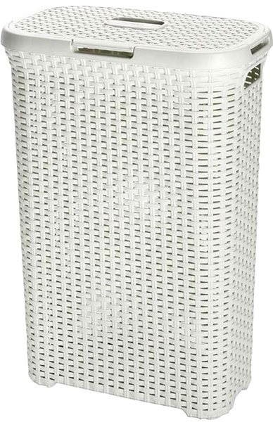 Curver Kôš na špinavú bielizeň Rattan 60l 00707-885 - Kôš na bielizeň