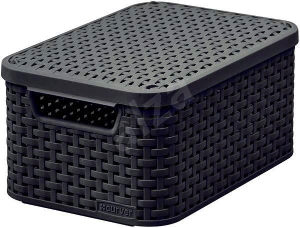 Curver Úložný box RATTAN Style2 s vekom S - Úložný box