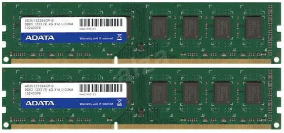 ADATA 8GB KIT DDR3 1333MHz CL9 - Operačná pamäť