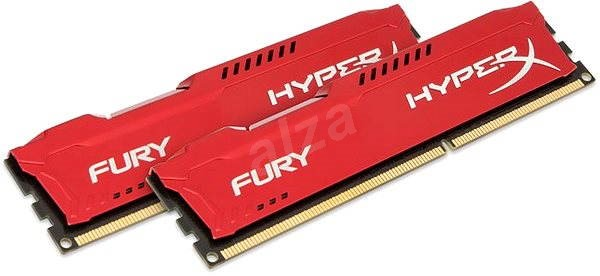 HyperX 16GB KIT DDR3 1600MHz CL10 Fury Red Series - Operačná pamäť