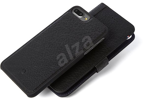 Decoded Leather 2 in 1 Wallet Case Black iPhone 7 Plus /8 Plus - Puzdro na mobil