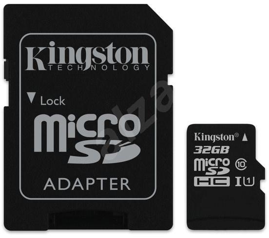 Kingston MicroSDHC 32 GB UHS-I U1 + SD adaptér - Pamäťová karta
