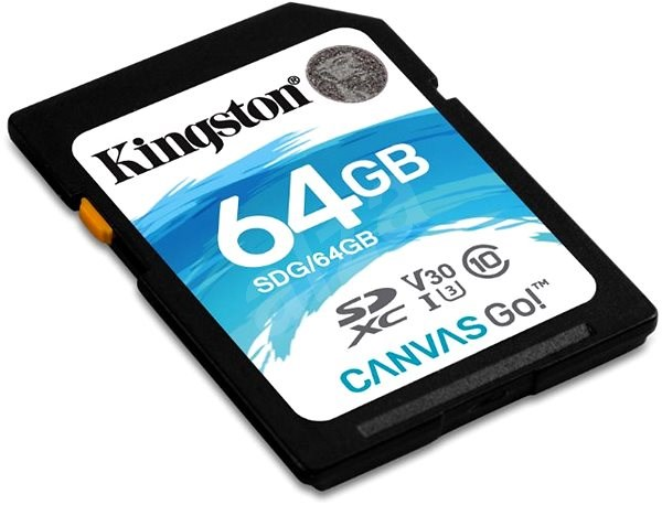 Kingston Canvas Go! SDXC 64 GB UHS-I U3 - Pamäťová karta