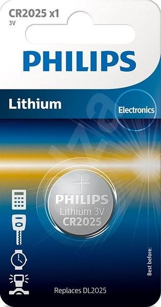 Philips CR2025 1 ks v balení - Gombíkové batérie