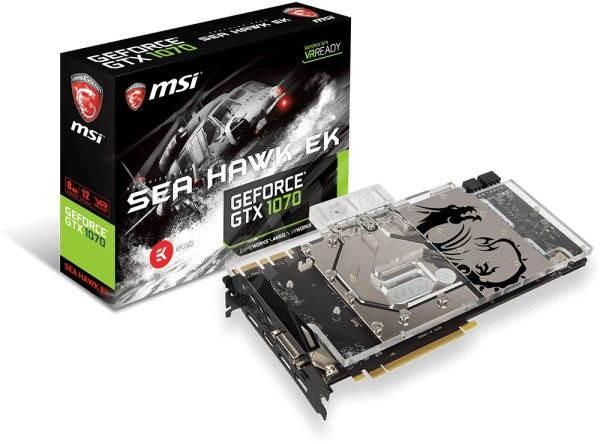 MSI GeForce GTX 1070 SEA HAWK EK X - Grafická karta