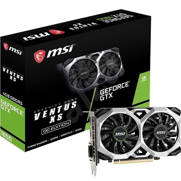 MSI GeForce GTX 1650 VENTUS XS 4G OC - Grafická karta