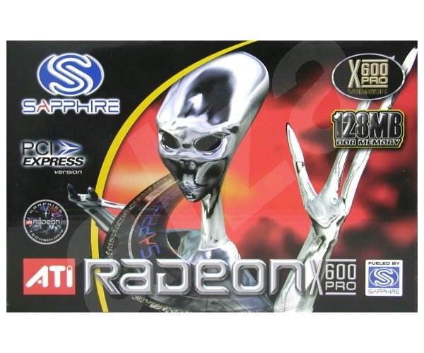 ATI (Sapphire) Radeon X600PRO, 128 MB DDR, VGA/DVI, PCIe x16 - Grafická karta