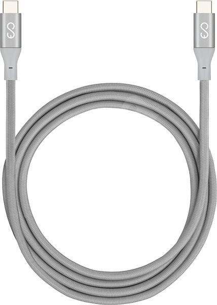 EPICO USB-C do USB-C 1,8 m – silver - Napájací kábel