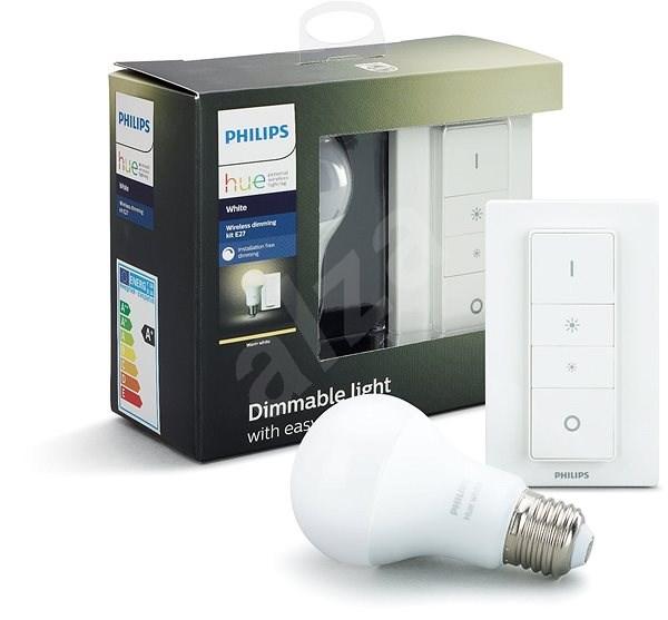 Philips Hue Wireless dimming kit + Philips Hue White 9 W - Stmievač osvetlenia