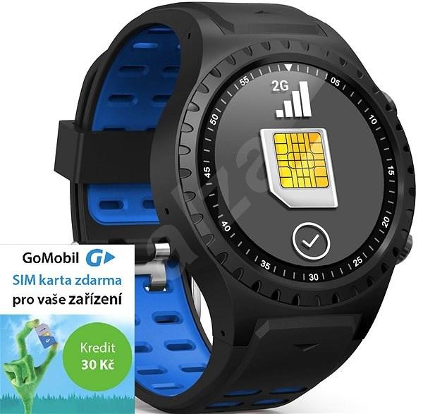 EVOLVEO SportWatch M1S Black Blue, SIM - Smart hodinky