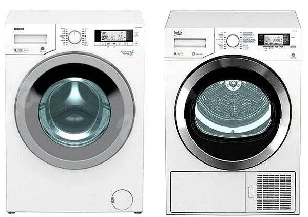 BEKO DPY 8506 GXB1 + BEKO WMY 91443 LB1 - Set práčka a sušička