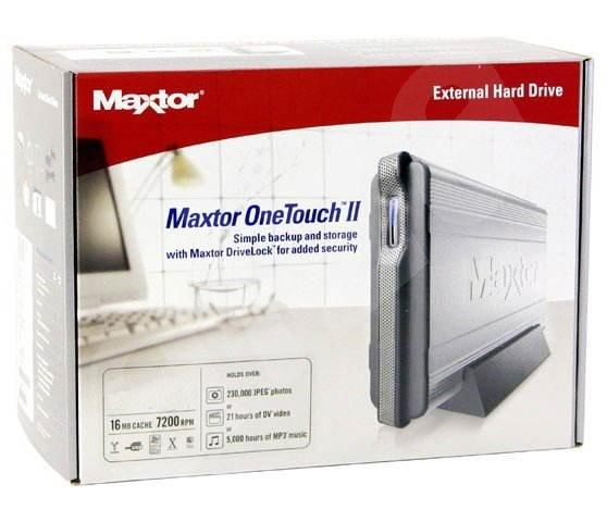 MAXTOR 250GB - 7200rpm 16MB OneTouch II USB2.0, FireWire E14G250 - 24 měsíců záruka -