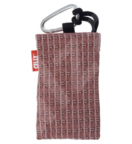 CELLY PUKKA20 - textilní pouzdro na foto nebo mobilní telefon, červené (red) - Puzdro na mobil