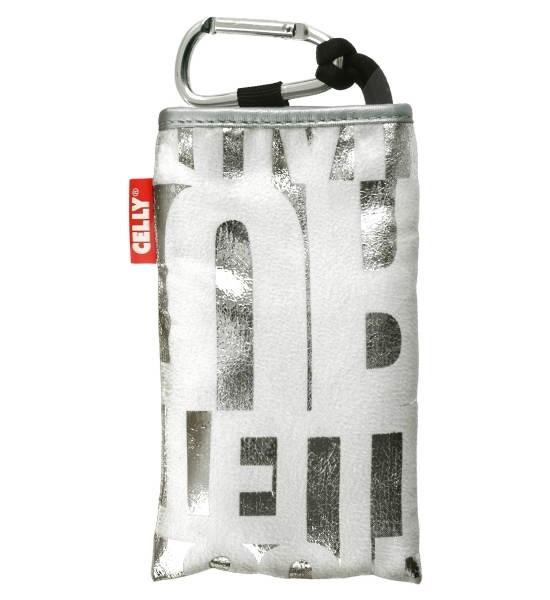 CELLY PUKKA45 - pouzdro na foto nebo mobilní telefon, stříbrné (silver) - Puzdro na mobil