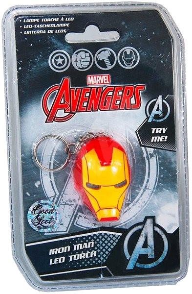 Marvel Avengers Iron Man Led Torch - Kľúčenka  7810a168990